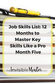 job skills list months to master key skills like a pro month job skills list list of professional skills learning new skills for work