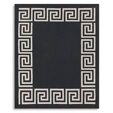 greek key border indooroutdoor rug black williams sonoma indoor outdoor sisal rugs