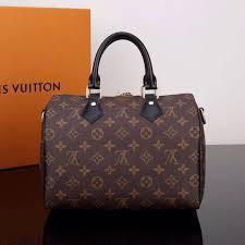 1 1 copy lv louis vuitton m48285 sdy 25 leather handbag monogram bag 25cm