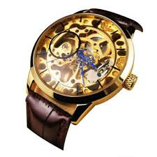 cheap skeleton watch skeleton watch deals on line at alibaba com get quotations · willtoo tm luxury men mechanical skeleton watch hand wind up gold dial black leather