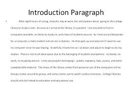 Introduction Essay Examples Example Introduction Essay