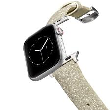 glitter apple watch band gold