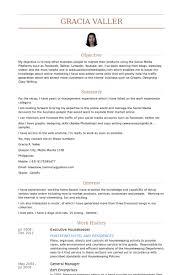 Resume Executive Housekeeper Resume Objective