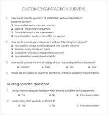 free printable survey template free printable customer satisfaction survey template archives