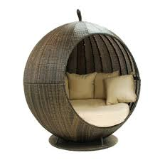 Round Rattan Cosy Outdoor Daybed With Canopy - Buy Round ...