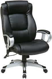 Office Chair With Adjustable Arms Ech52666 Ec3 Office Star Executive Black Eco Leather Chair With