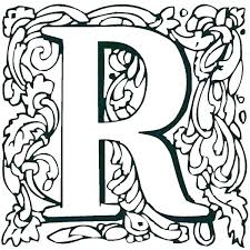 R Coloring Page R Coloring Pages The Letter R Coloring Pages Letter