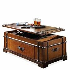 steamer trunk desk riverside lift top coffee table restoration hardware mayfair