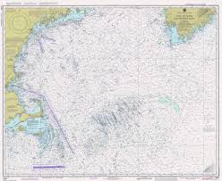Gulf Of Maine Chart Gulf Of Maine And Georges Bank Print