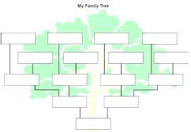 Blank Family Tree 4 Generations Family Tree Sheets Printable Solacademy Co