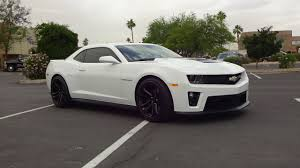2013 Chevrolet Chevy Camaro ZL1 in White Paint & Engine Sound on ...