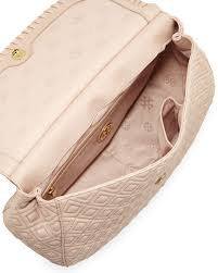 Tory Burch Marion Quilted Leather Saddle Bag, Pink & Marion Quilted Leather Saddle Bag, Pink Adamdwight.com