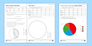 Charity Pie Charts How To Draw A Pie Chart Worksheet Pie Chart Pie Graph