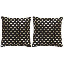 <b>Cushions 2 pcs Foil</b> Print Black and Gold Cotton 40x40 cm Sale ...