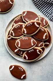 Football Cookie Cake Designs How To Make Football Cookies Sallys Baking Addiction