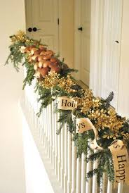 Christmas Garland For Stairs Garlands Inside Decorations 9