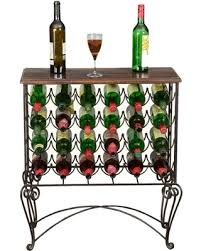 Wine rack bar table Homemade Wine Parisian Café Mango Wood And Iron 24bottle Wine Rack Bar Table Crafters And Weavers Check Out These Major Deals On Parisian Café Mango Wood And Iron 24