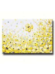 abstract painting yellow grey large wall art modern clean and fresh cute yellow and grey wall art