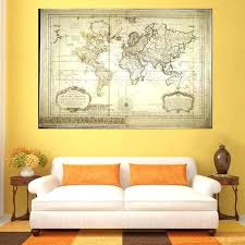 office wall prints. Artwork For Office Walls Classical Retro Global Map Home Decorations Prints Canvas Painting Wall Art Decor
