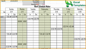 Schedule Maker For Work Excel Work Schedule Maker Filename Junio Relitetri
