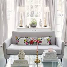 bay window living room. Gray Curtains And A Sofa Is Great Choice When You Don\u0027t Want Bay Window Living Room