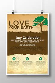 Vintage Love Your Earth Day Celebration Flyer Template