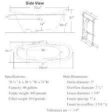 master bathtub dimensions