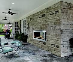 heat glo mezzanine see through indoor outdoor gas fireplace