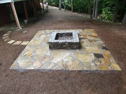 patio with square fire pit. Delighful Fire Inspiring Laminated Ceramics Deck Of The Patio Added By Square Firepit Idea In Patio With Square Fire Pit R