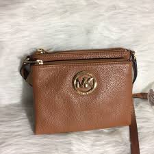 michael kors fulton leather cross