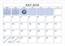 July 2018 Printable Calendar Printable 2017 2018 2019 2020 Calendar