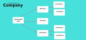 Horizontal Organization Chart Template
