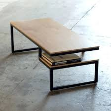 coffee table modern modern wood coffee table reclaimed metal mid round natural all modern coffee tables