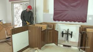 How To Remove Kitchen Cabinet How To Remove Kitchen Cabinets Youtube