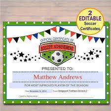 Soccer Certificate Templates For Word Soccer Certificate Ideas Drabble Info