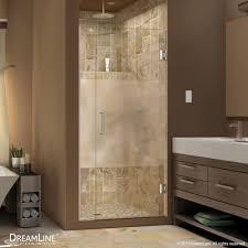 unidoor plus half frosted glass shower door half door shower ideas