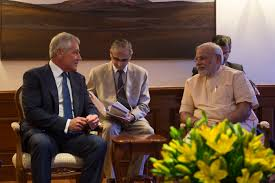 u s department of defense photo essay u s defense secretary chuck hagel left meets n prime minister narendra modi in