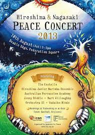 fukushima hiroshima nagasaki maralinga the asia pacific  figure 5 poster for hiroshima and nagasaki peace concert 2013 31