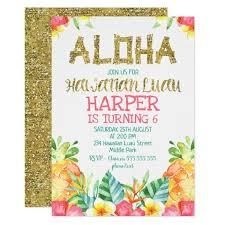 Floral Hawaiian Luau Birthday Invitation In 2018 Cute Graduation