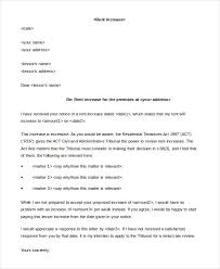 how to write a rent increase notice sample rent increase letter 5 free sample example format