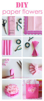 How To Make A Flower Out Of Paper Step By Step How To Make Tissue Paper Flowers I Heart Nap Time