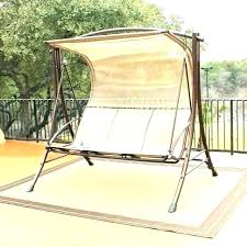 canopy lawn swings outdoor and gliders glider porch swing for wood swi