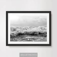 details about black white waves surf sea ocean art print poster frothy photograph picture wall