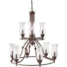 9 light multi tier chandelier
