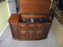 sylvania record player cabinet
