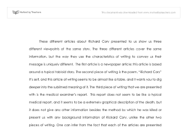 analysis of richard cory gcse english marked by teachers com document image preview