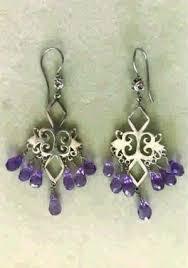 earrings silver chandelier