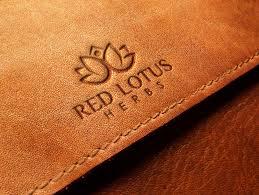 embossed leather logo mockup psd logo mockup psd