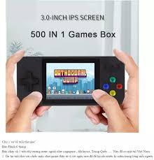 Máy chơi game cầm tay mini 500 trò 2 người chơi - Máy game 4 nút cầm