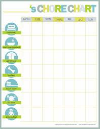 Calendar Chore Chart Template Chore Chart Templates For Kids Sada Margarethaydon Com
